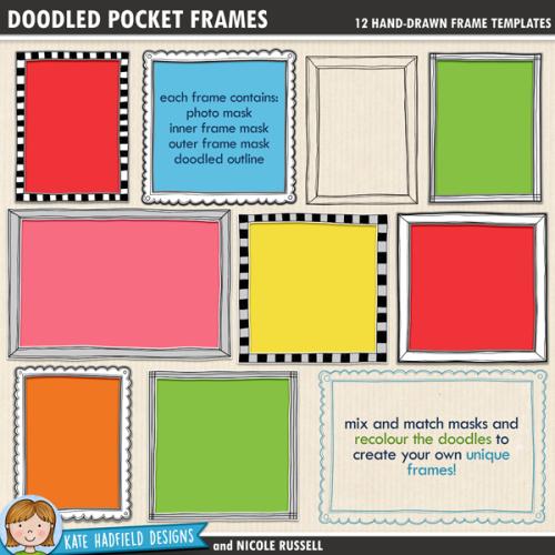 Doodled Pocket Frames
