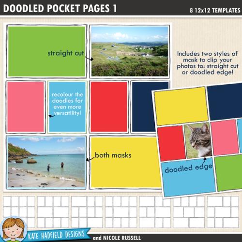 Doodled Pocket Pages
