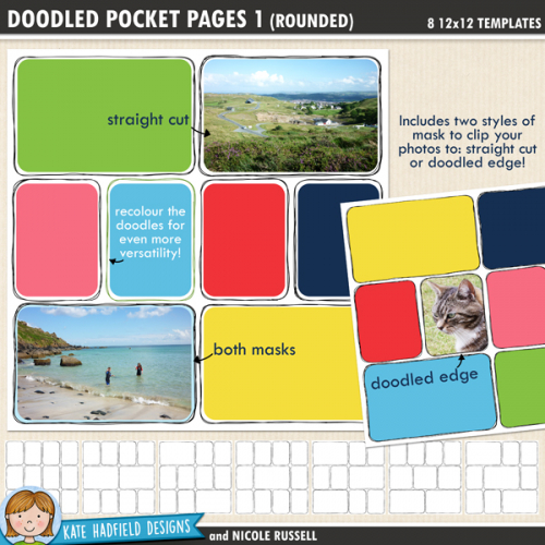 Doodled Pocket Pages (Rounded)
