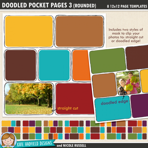 Doodled Pocket Pages 3 (Rounded)
