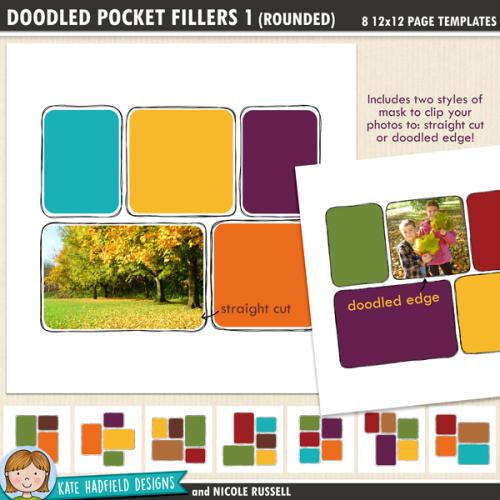 Doodled Pocket Pages: Fillers 1 (Rounded)