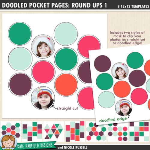 Doodled Pocket Pages: Round Ups 1