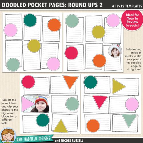 Doodled Pocket Pages: Round Ups 2