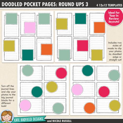 Doodled Pocket Pages: Rounds Ups 3