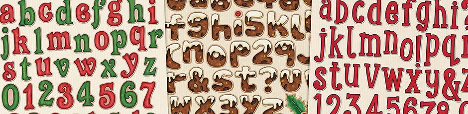 Christmas Alphabets & Elements