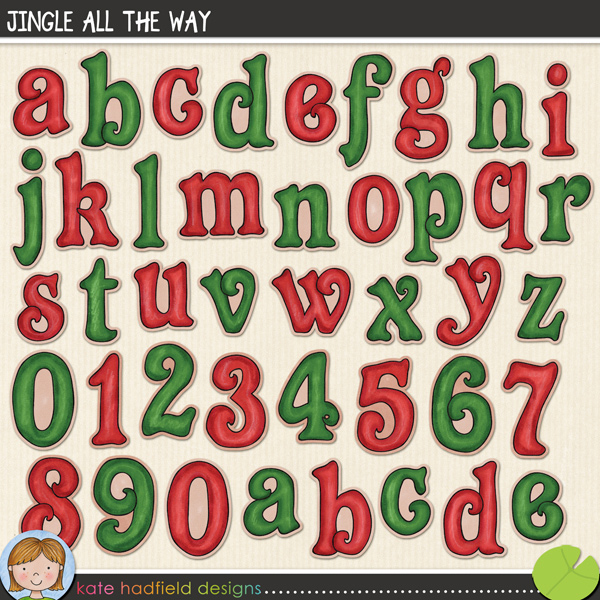 A fun little elf-inspired Christmas alpha to add a little touch of doodled whimsy to your seasonal pages and projects! Contains lowercase letters a-z and numerals 0-9.FOR PERSONAL & EDUCATIONAL USE (please see myTerms of Usefor more information)