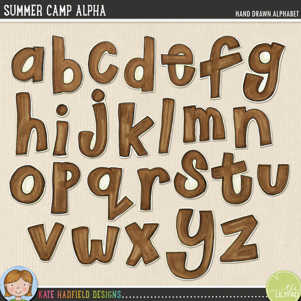 Funky little hand painted alphabet with a natural, woodsy feel! Contains letters a-z as shown and co-ordinates with the Summer Camp doodles!FOR PERSONAL & EDUCATIONAL USE (please see myTerms of Usefor more information)