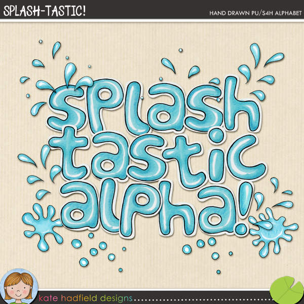 A fun and splashy hand-drawn alpha that's perfect for those pool, sprinkler or bath photos that are crying out to be scrapped! Contains lowercase letters, numerals, 7 splash / splat doodles and the following punctuation & ? ( ) ! ~FOR PERSONAL & EDUCATIONAL USE (please see myTerms of Usefor more information)