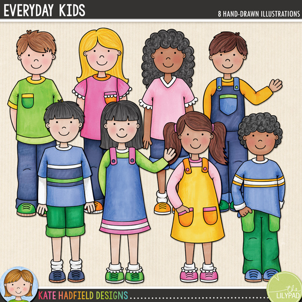 A collection of cute everyday kids that's perfect for creating greetings cards, hybrid projects and more! Contains 8 kids as pictured, 4 boys and 4 girls.FOR PERSONAL & EDUCATIONAL USE (please see my Terms of Use for more information)