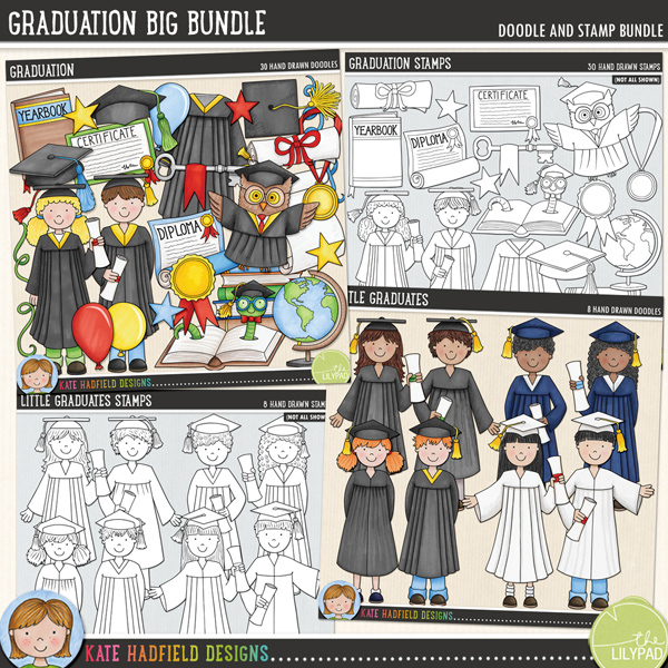 A colourful, fun-packed collection to help you celebrate the academic achievements of all your little learners! Save $$ with this extra value Graduation BIG Bundle containing:			Graduation			Graduation Stamps			Little Graduates			Little Graduates StampsFOR PERSONAL & EDUCATIONAL USE (please see my Terms of Use for more information)