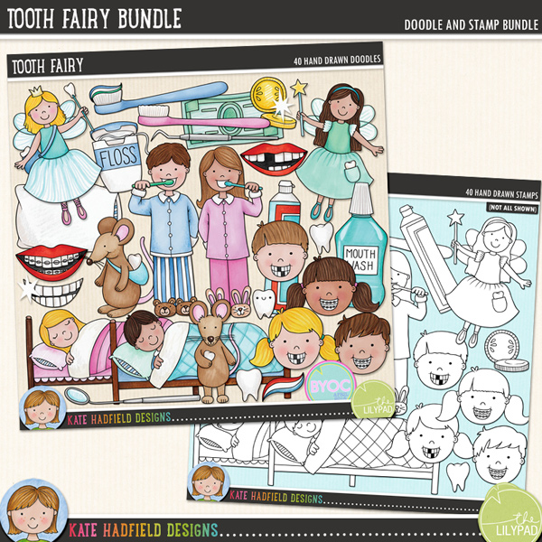 A celebration of all things toothy! Perfect for recording memories of lost teeth and visits from the Tooth Fairy, this pack contains the following hand drawn illustrations: bank note and coins, boy and girl cleaning teeth, dental mirror and dental probe, letter and envelope, 2 boys faces (one with gaps in teeth, one with braces), 2 girls faces (one with gaps in teeth, one with braces), dental floss, moon, mouth wash, pillow, sleeping boy and sleeping girl, 2 smiles, 2 smiles with braces, 2 smiles with missing teeth, 3 sparkles, 3 teeth, 2 tooth bags, 3 toothbrushes, 2 tooth fairies, 2 tooth mice (Ratón Pérez), toothpaste, toothpaste foam, 2 tubes of toothpaste.Extra Value Bundle containing:Tooth FairyTooth Fairy StampsFOR PERSONAL & EDUCATIONAL USE (please see myTerms of Usefor more information)
