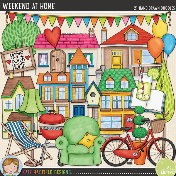 Lazy summer days and relaxing weekends at home with family and friends are what this kit is all about! Contains the following hand drawn doodles: armchair, balloons, BBQ, bicycle, birdhouse, open book, bunting, deckchair, drink, heart, 5 houses, ice cream cone, lamp, Home Sweet Home picture, play, 2 trees. NB: These doodles are also available in the Weekend At Home Kit and the Weekend At Home BUNDLE!FOR PERSONAL & EDUCATIONAL USE (please see myTerms of Usefor more information)