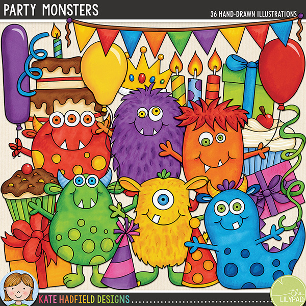 Everyone loves a party, especially the Party Monsters! Packed with fun characters and bright colours, Party Monsters is perfect for all your birthday and party themed pages and projects!