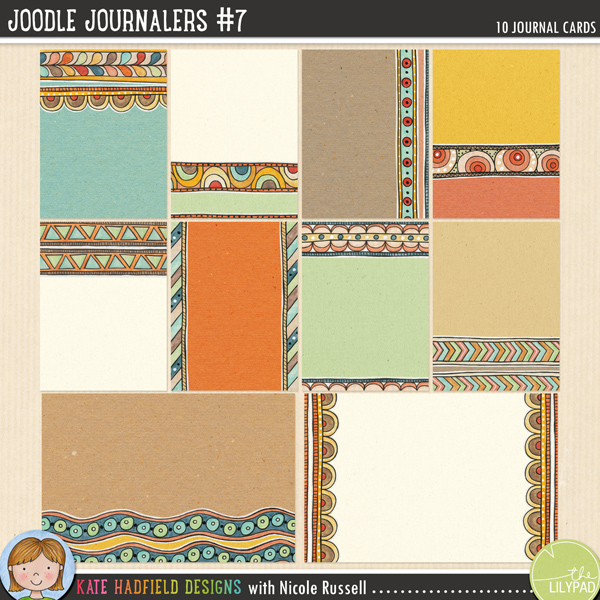 An artsy collection of 10 journal cards (2 6x4 inches, 8 3x4 inches) created by Nicole Russell using my Joodle Strips 5! Add a touch of artsy fun to your pocket pages with these colourful cards, or use them as journal spots on your layouts! Co-ordinates with the rest of the November 2014 BYOC collection. Supplied as individual jpeg files and as a letter sized ready-to-print PDF file.	FOR PERSONAL / LIMITED S4H USE (please see my Terms of Use for more information)