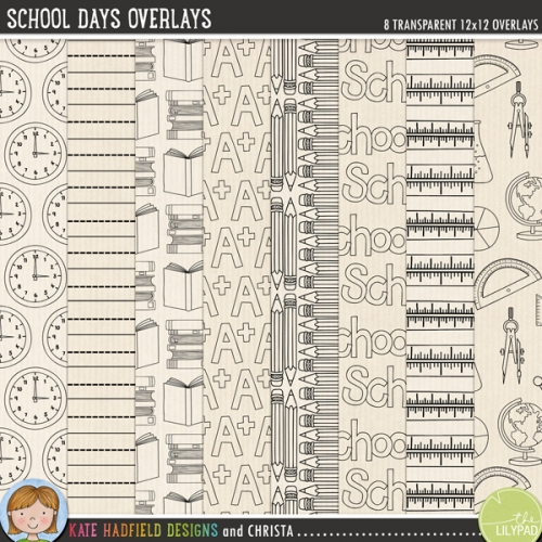 School Days Overlays