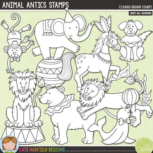 Animal Antics Stamps