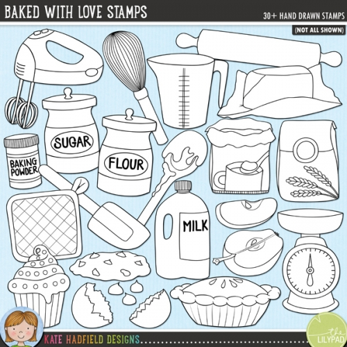 Baked With Love Stamps