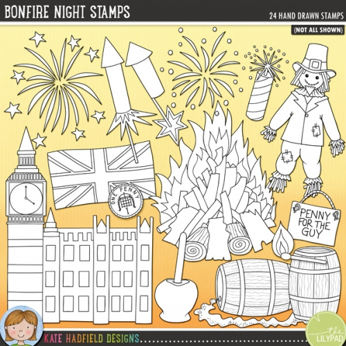 Bonfire Night Stamps