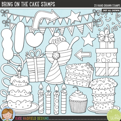 Bring on the Cake Stamps