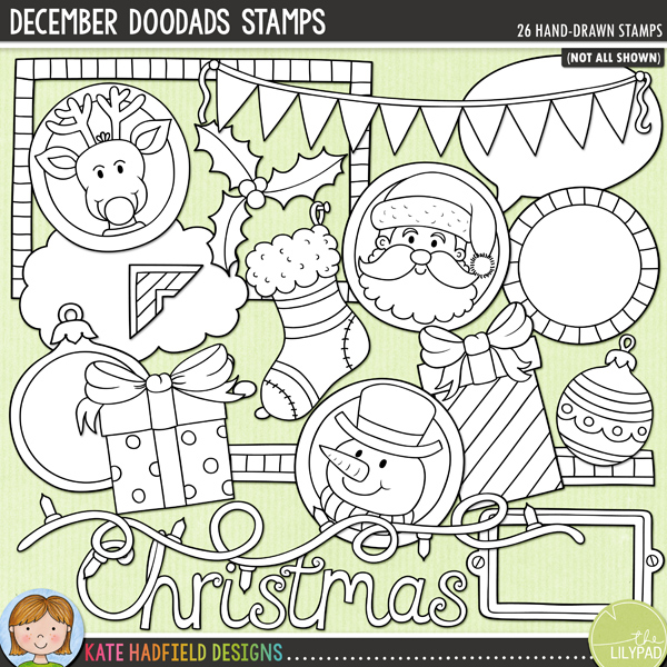 December Doodads Stamps