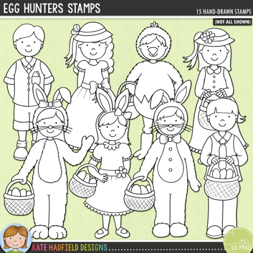 Egg Hunters Stamps
