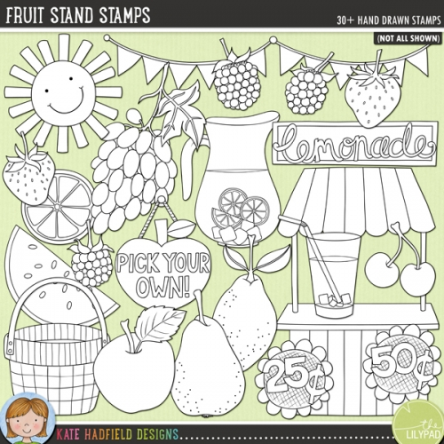 Fruit Stand Stamps