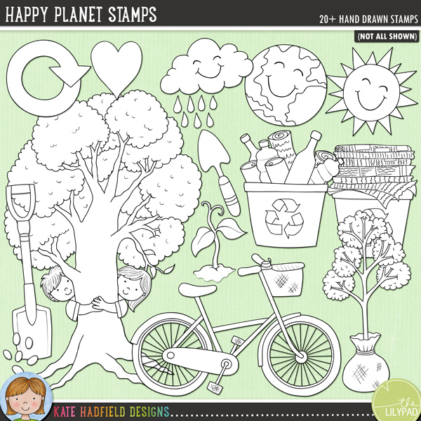 Happy Planet Stamps