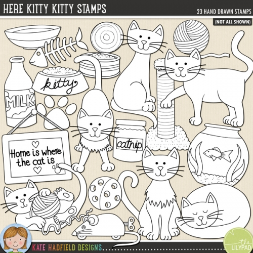 Here Kitty Kitty Stamps