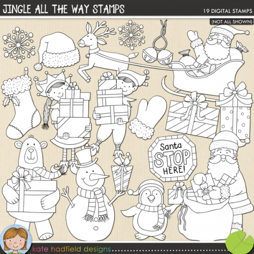 Jingle All The Way Stamps