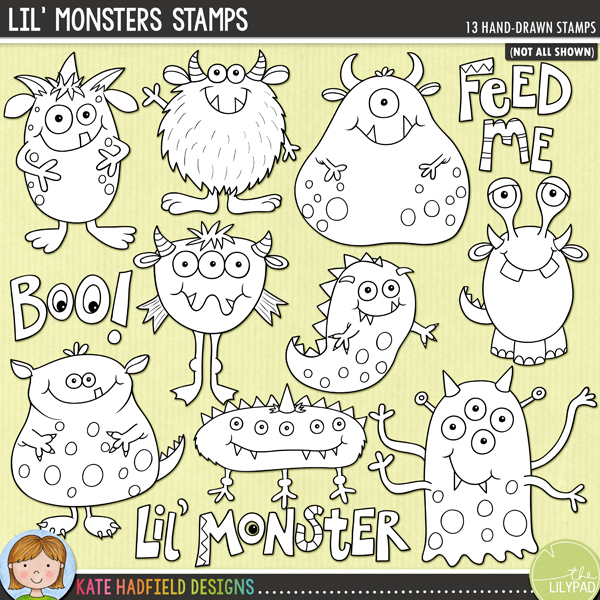 Lil' Monsters Stamps