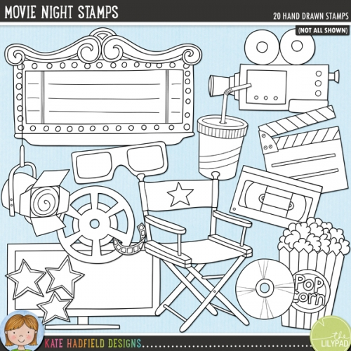 Movie Night Stamps
