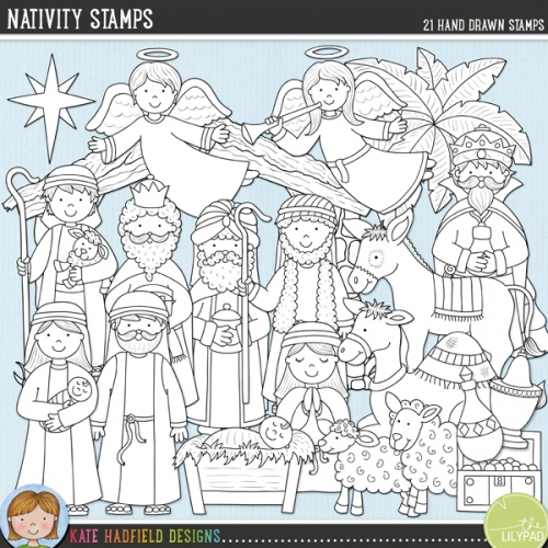 Nativity Stamps