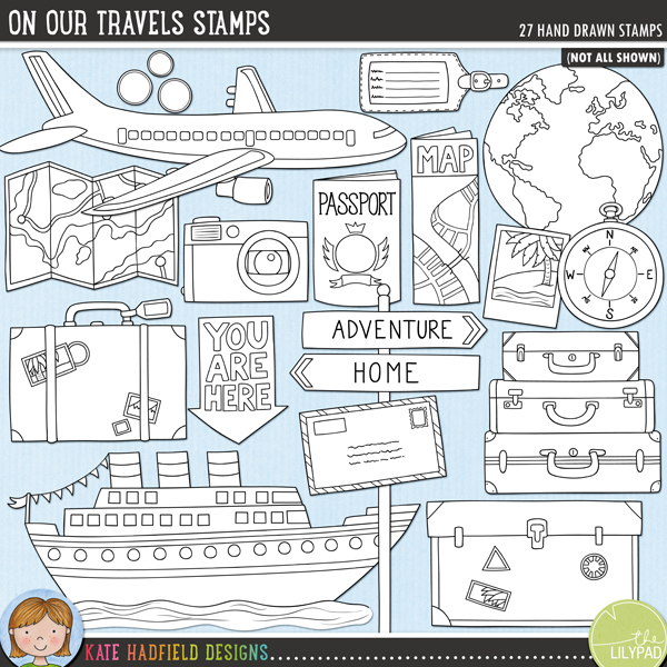 Travel Themed Bedroom For Seasoned Explorers: On Our Travels Stamps