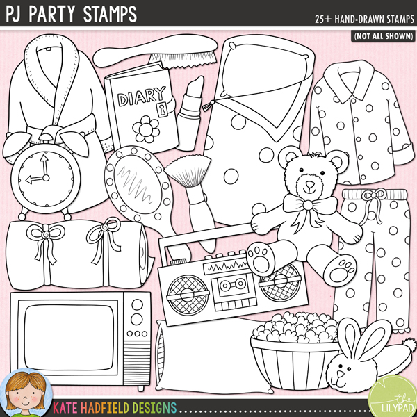 PJ Party Stamps