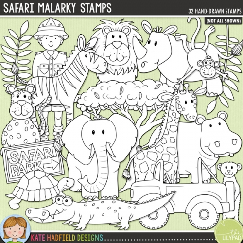 Safari Malarky Stamps