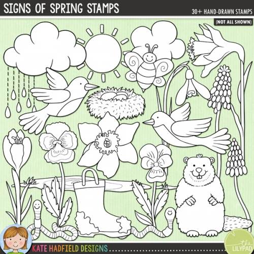 Signs of Spring Stamps