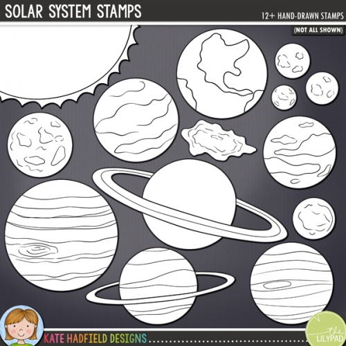 Solar System Stamps