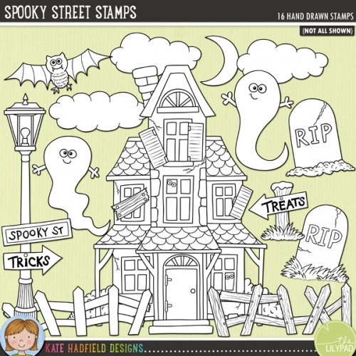 Spooky Street Stamps