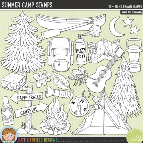 Summer Camp Stamps
