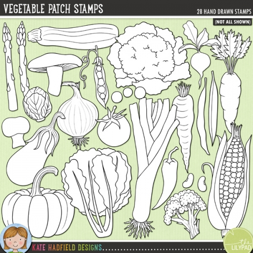 Vegetable Patch Stamps