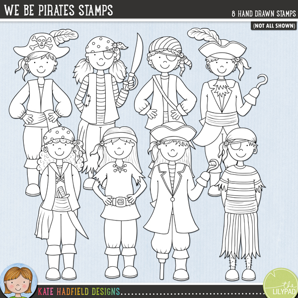 We Be Pirates Stamps