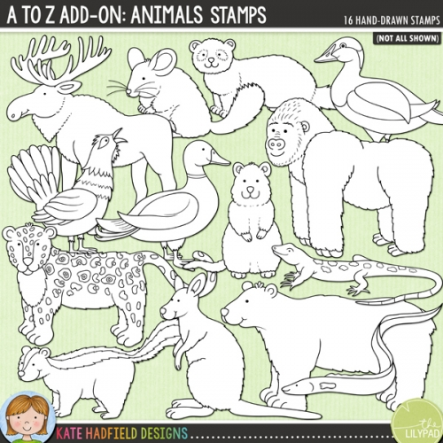 A to Z Add-on: Animals Stamps