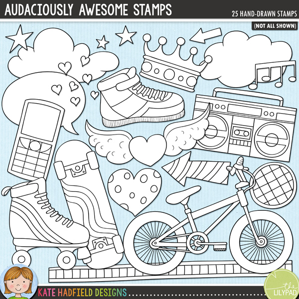 Audaciously Awesome Stamps