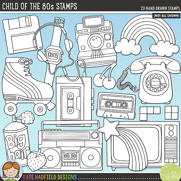 Child of the 80s Stamps