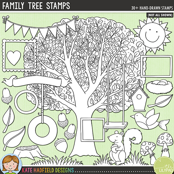 Family Tree Stamps