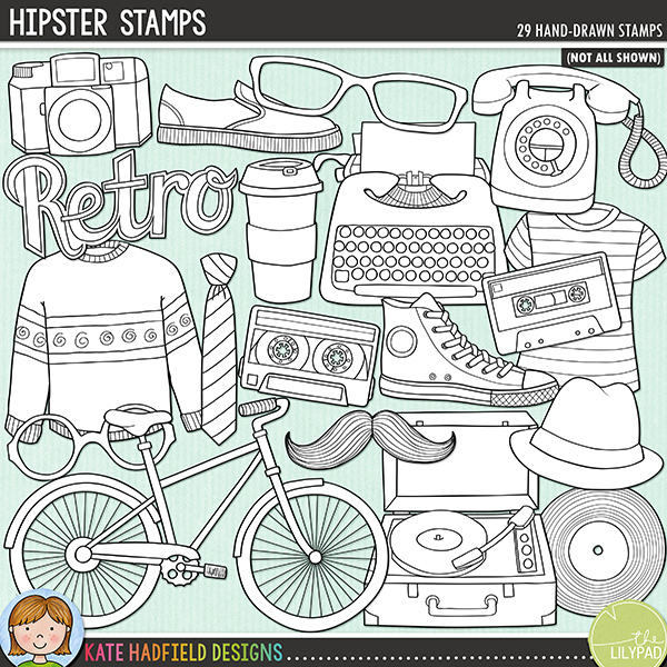 Hipster Stamps