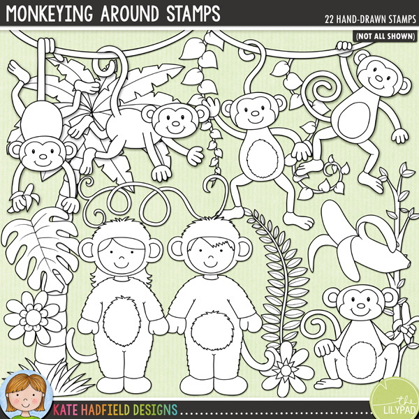 Monkeying Around Stamps