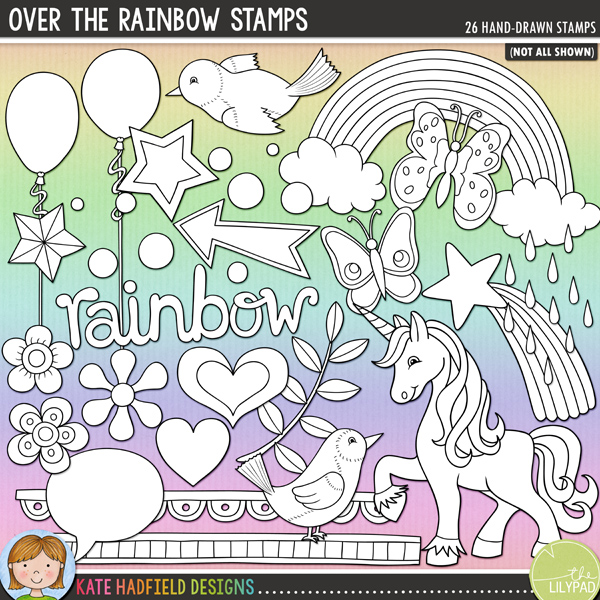 Over the Rainbow Stamps