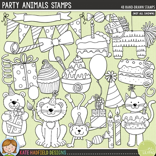 Party Animals Stamps