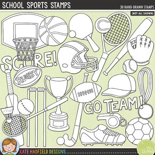 School Sports Stamps